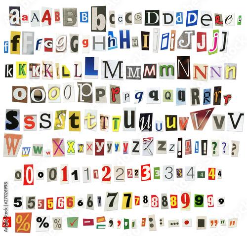 Fotografia Newspaper alphabet