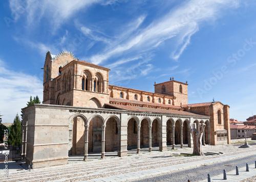 The San Vicente Basilica in Avila