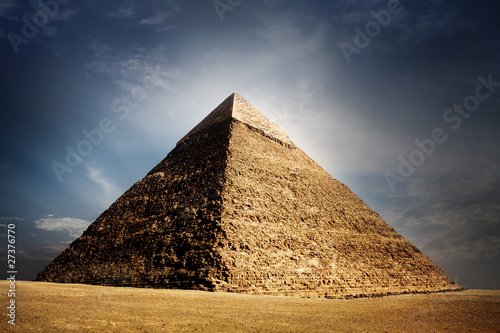 Carta da parati giza pyramids, cairo, egypt