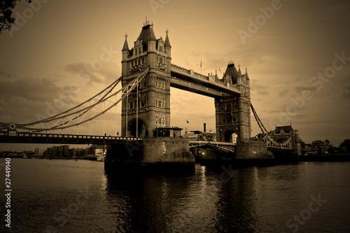 Tower bridge sepia