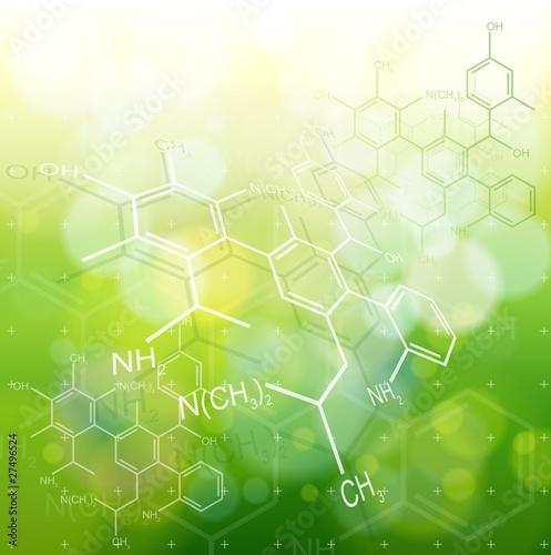 ecology background: chemical formulas #27496524