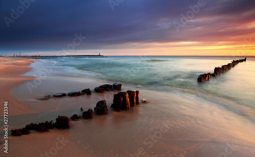 Beautiful sunrise on the beach #27723346