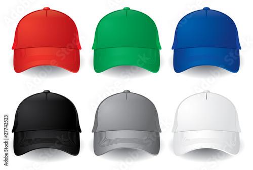 Fotografie, Obraz Vector baseball caps