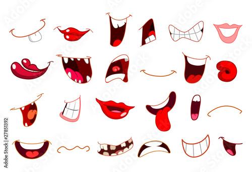 Fotografia Cartoon mouths