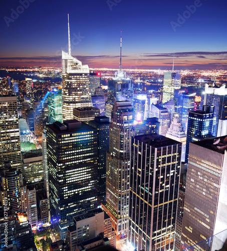 Fototapeta premium Panoramę Manhattanu Times Square w Nowym Jorku