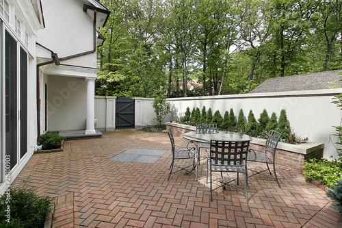 Obraz na płótnie Luxury brick patio