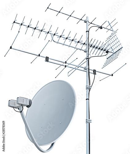 Obraz na płótnie Antenna tv e antenna parabolica