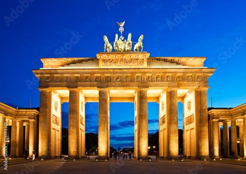 Canvas Print Brandenburg Gate in Berlin