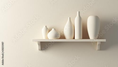 Tablou Canvas ceramics vases on the shelf