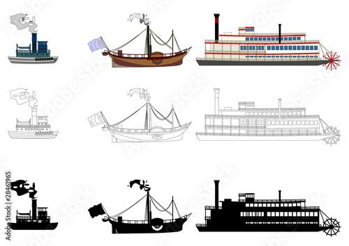 Obraz na plátně Children ship 2