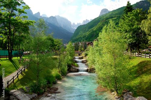 Molveno - Dolomites Italy Fototapete