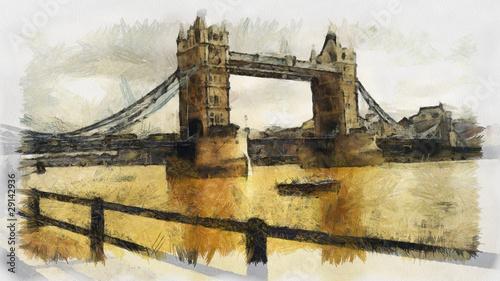 London Bridge Illustartion