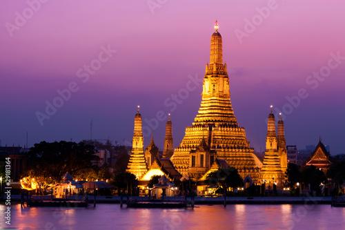 Canvas Print Wat Arun (Temple de l'Aube), Bangkok, Thaïlande