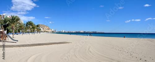 Photographie Panorama of Alicante beach, Spain
