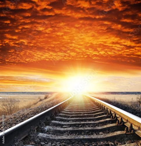 railway to sunset