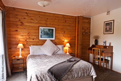 Fototapeta Fox Glacier Lodge Bedroom Interior