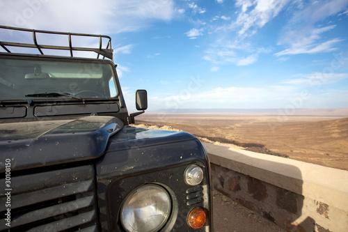 фотография The car and the desert