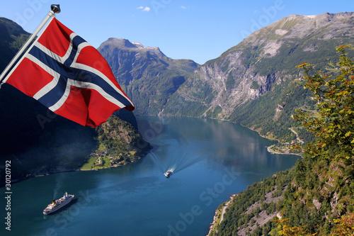 Valokuvatapetti Geirangerfjord in Norway (Unesco World Heritage)