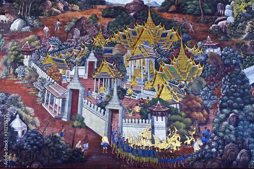 Photo arts Thai painting ,