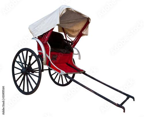 Fotografie, Obraz rickshaw vehicle isolated on white