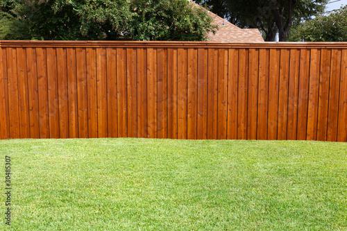 Tablou Canvas Backyard Fence