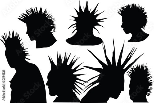 Fotografie, Obraz 70s-80s punk rock hairstyle, urban culture