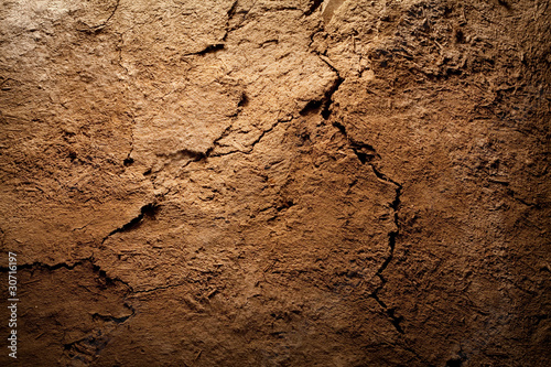Tableau sur Toile Earth dirt texture background of brown mud