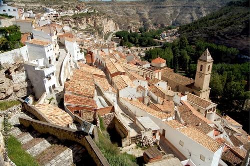 Alcala del Jucar (Albacete) in Spain