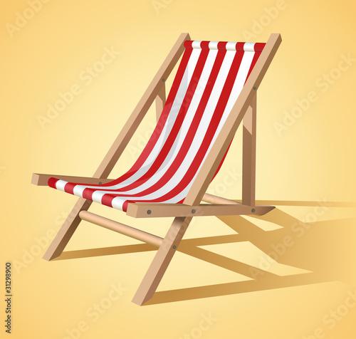 Photo Beach chair vector