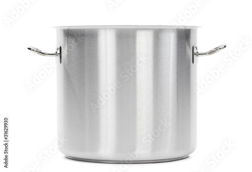 metal cooker pot isolated