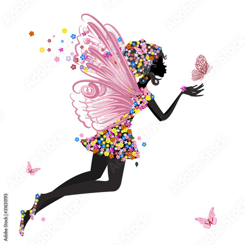 Flower Fairy with butterfly