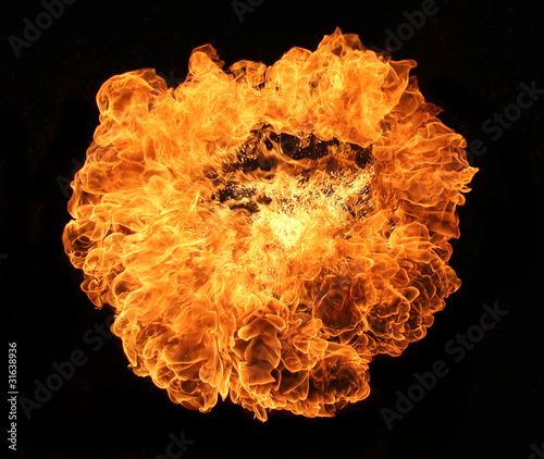 Fire explosion on black background #31638936