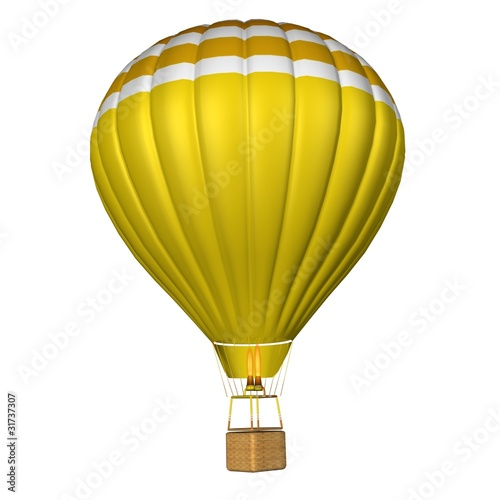 Tableau sur Toile hot air balloon isolated on a white background