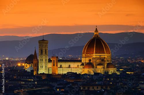 Florenz Dom Nacht - Florence cathedral night 01 Fototapet
