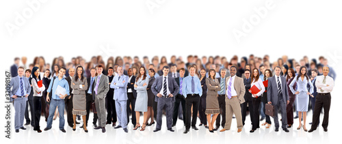 Tablou Canvas big group of business people. Isolated over white