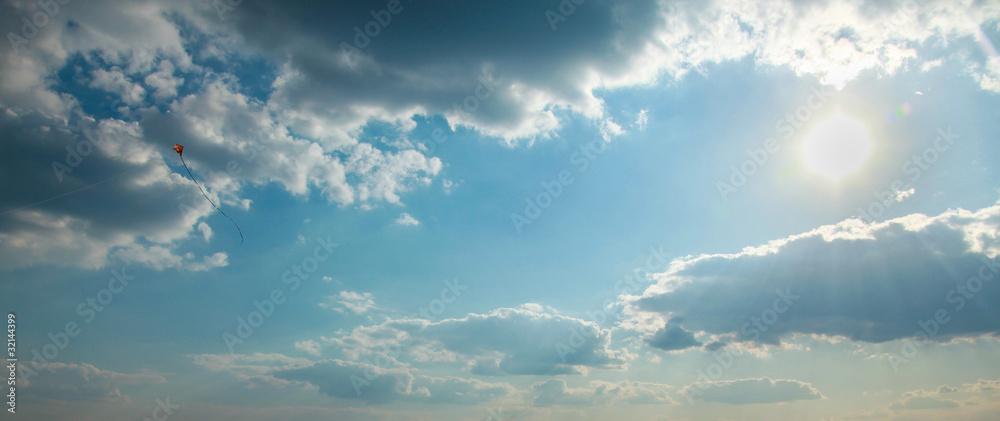 Latawiec na niebie