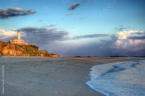 Canvas Print Anzio's lighthouse hdr