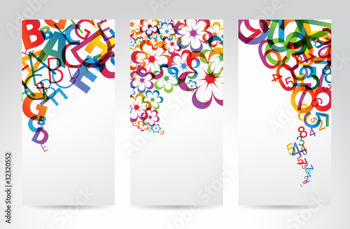Banners with colorful rainbow elements #32320552