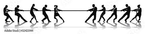Fotografie, Obraz Business people tug of war competition