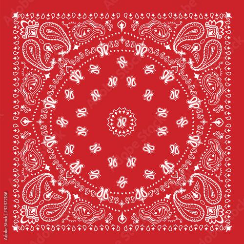 Fotografia Bandana design in red and white
