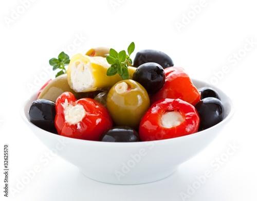 olives and stuffed peppers Fototapeta