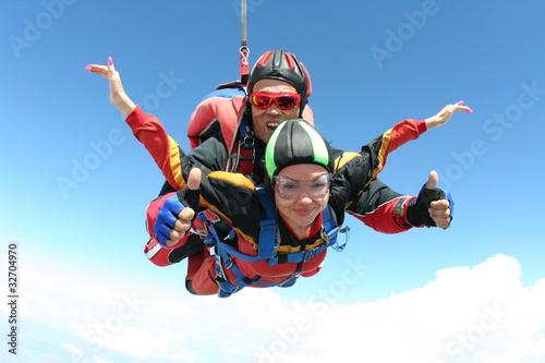 Obraz na plátně Skydiving photo