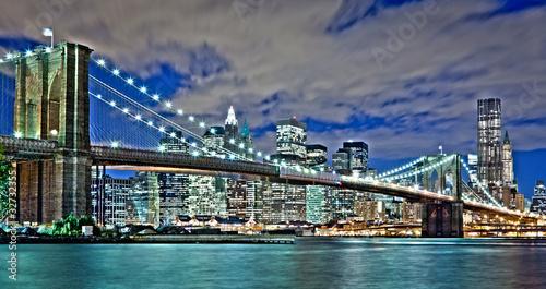 New York City and Brooklyn Bridge