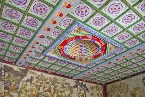 Roof of the Giant Wild Goose Pagoda, X'ian, China