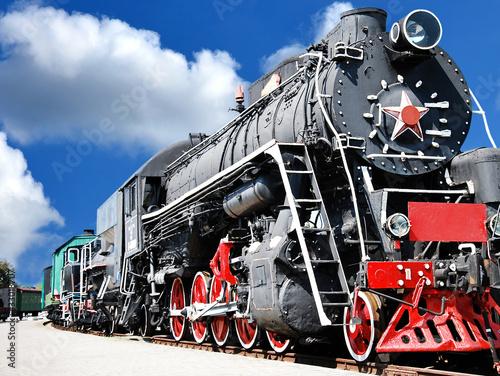 Fototapeta premium Stary pociąg parowy
