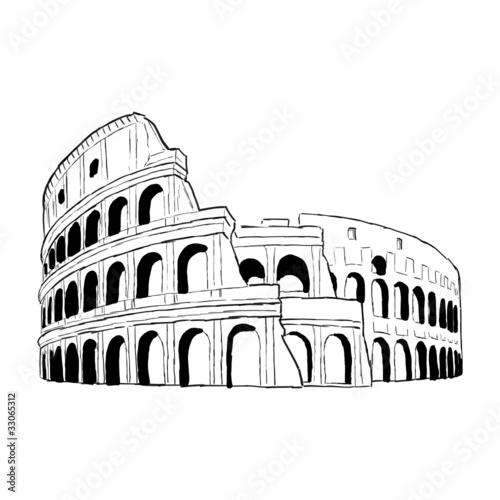 Slika na platnu zeichnung colloseum 4
