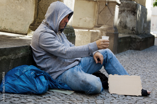 Fotografiet Arbeitsloser sucht Arbeit