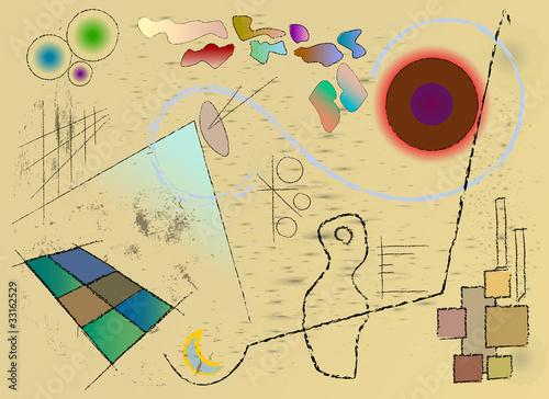 modern art inspired background design