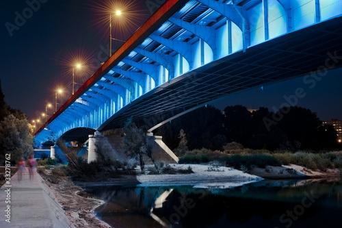 Night view of bridge in Warsaw #33278762