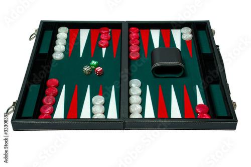 Fotografia, Obraz Backgammon board game - clipping path